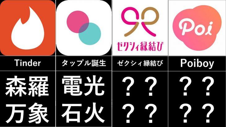 マッチングアプリを四字熟語で表現してみた【比較系】